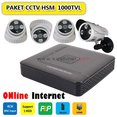 Paket CCTV HSM 1000TVL